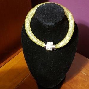 Nwot mesh crystal bracelet